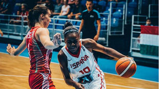 Iris Juno, en el partido ante Hungría.