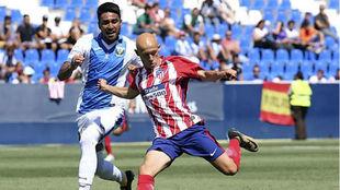 Víctor Mollejo en su debut frente al Leganés
