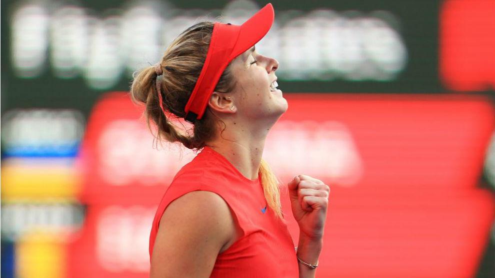 Elina Svitolina celebrando su victoria en la final de Toronto.