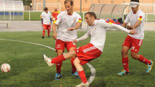 'El Niño' durante un entrenamiento con la selección en...
