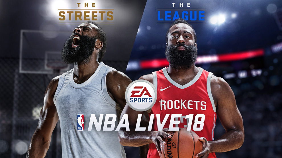 EA Sports eligió a James Harden para la portada del NBA Live 18