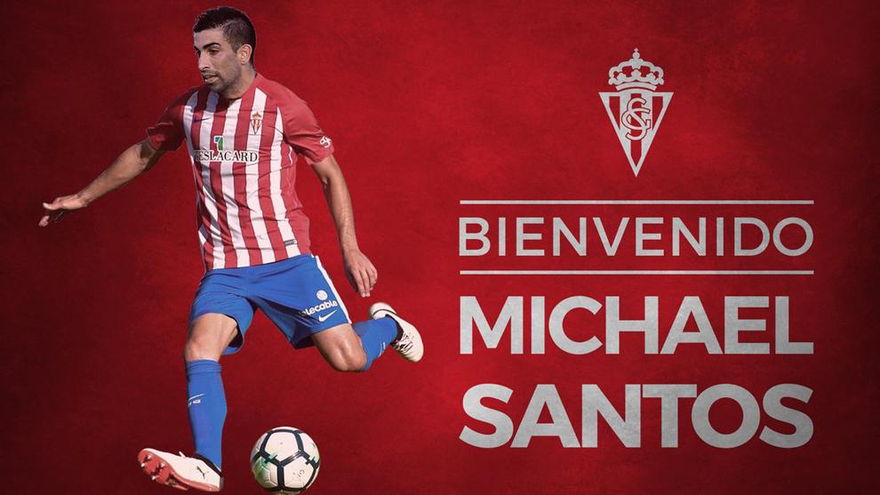 El Sporting presenta a Michael Santos como su nuevo jugador