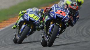 Viñales y Rossi, en el GP de Austria