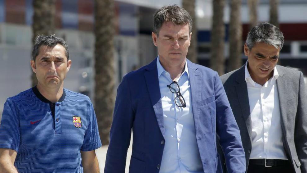Valverde, Robert y Albert Soler.