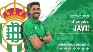 Javi García posa como jugador del Betis
