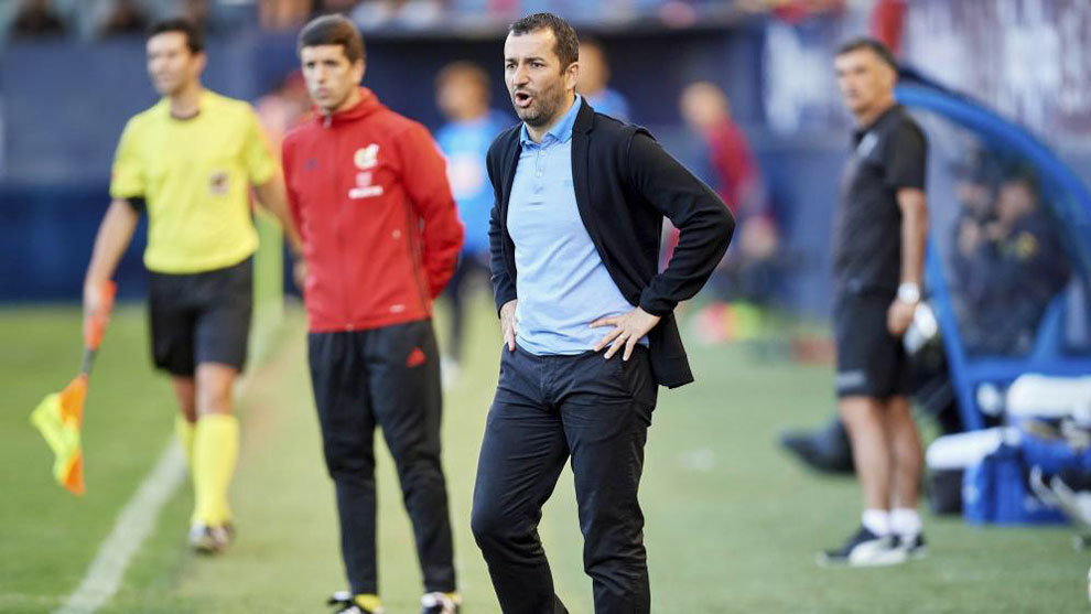 Diego Martínez, en una imagen del partido ante el Eibar