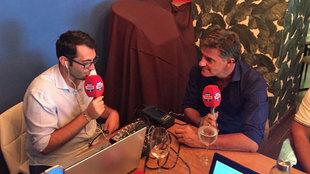 Michel, en la entrevista para Radio MARCA