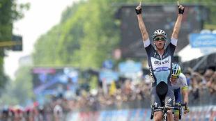 Iljo Keisse durante el Giro de Italia de 2015.