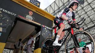 Louis Meintjes en el Tour de Francia de 2017.
