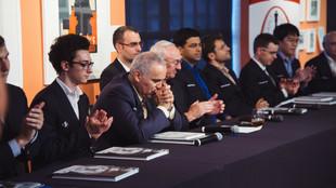 Kasparov, en la presentación de la Copa Sinquefeld