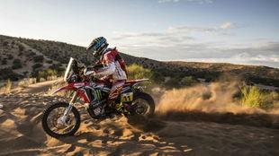 Joan Barreda, en el pasado Rally Dakar