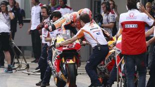 Marc Márquez, cambia de moto en Brno
