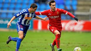 Sergio Llamas en un partido contra el Zaragoza.