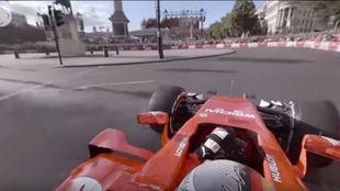 El Ferrari de Vettel, en el show de la F1 en Londres