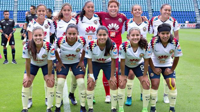 Ftbol Femenil Amrica Femenil Jugar Su Primer Partido