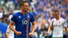 Sigurdsson durante un partido con Islandia.