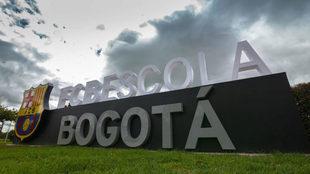 La escuela de fútbol del Barcelona en Bogotá