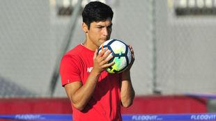 Borja Lasso, en un entrenamiento.