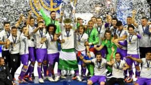 El Real Madrid, tras obtener la Champions de la temporada pasada