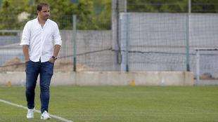 Jordi Lardín presencia el entrenamiento del primer equipo en Sant...