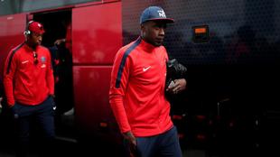 Matuidi (30), antes de un partido entre el PSG y el Guingamp