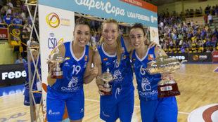 Quevedo, Gil y Domínguez celebran la consecución de la anterior...