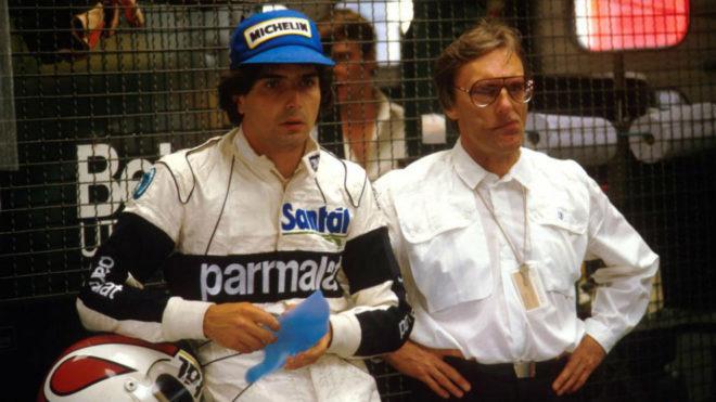 Nelson Piquet y Bernie Ecclestone, en la década de los 80.