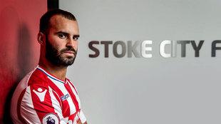 Jese, con la camiseta del Stoke
