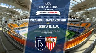 Previa  ida Champions League: Istanbul Basaksehir Vs Sevilla