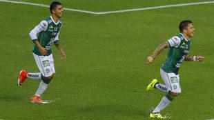 Ramos, al momento de abrir el marcador.