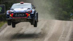 Dani Sordo, en el pasado Rally de Finlandia.