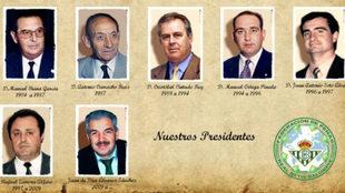 Algunos Presidentes de la Federación de Peñas Béticas