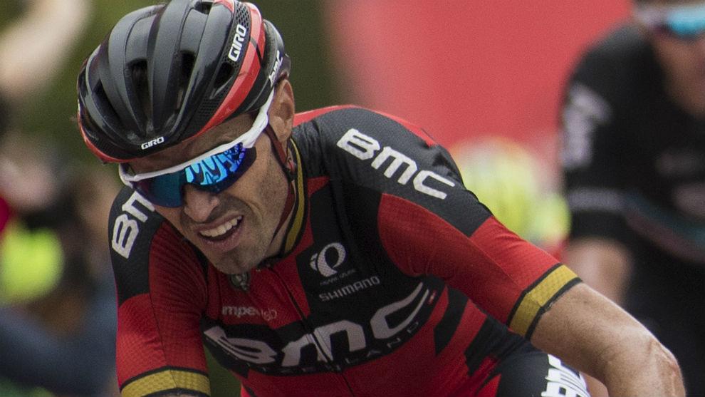Samuel Sánchez, en la etapa del Naranco de la Vuelta 2016.
