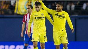 Manu Trigueros durante un partido de la temporada pasada con el...