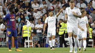 Asensio celebra su gol frente al Barcelona.
