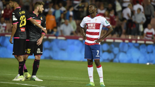 Adrián Ramos (31), en un partido entre el Granada y el Espanyol