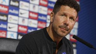 Simeone, en conferencia de prensa