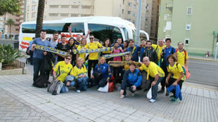 Afición del Cádiz en un desplazamiento de la temporada pasada