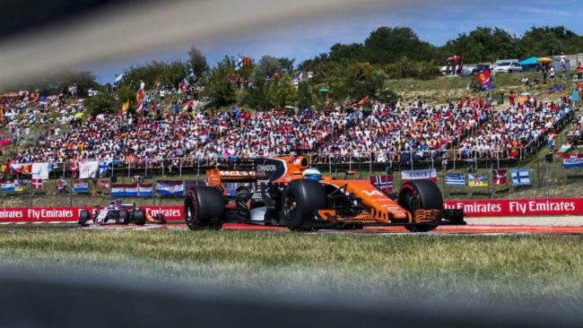 Fernando Alonso, en el pasado GP de Hungr�a.