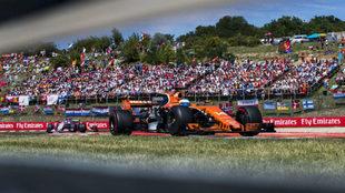 Fernando Alonso, en el pasado GP de Hungría.
