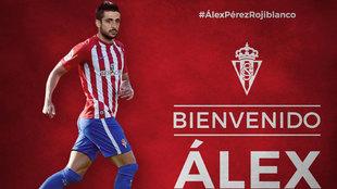 Anuncio del fichaje de Alex Pérez