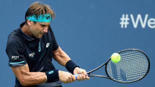 Ferrer (35), en un instante del juego ante Janko Tipsarevic
