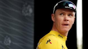 Froome tras competir en el Tour de Francia