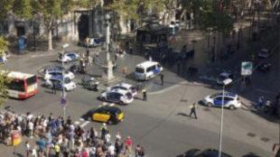 Cerco policial tras el atentado en Barcelona