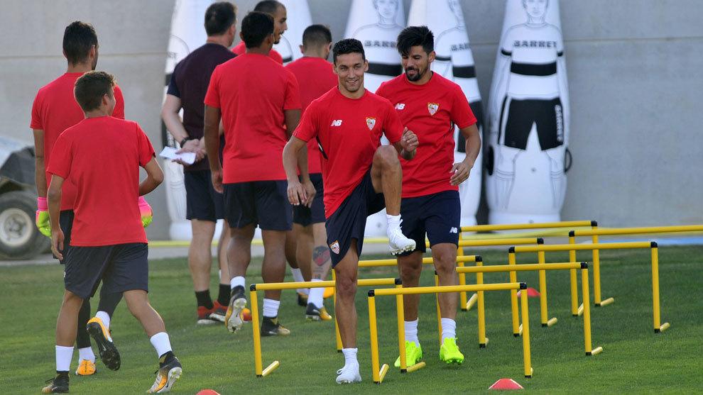 Entrenamiento del Sevilla