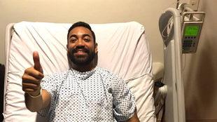 Marco Fabián, después de su operación en Houston