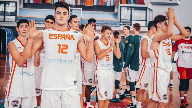 Los componentes de la selección española U16.