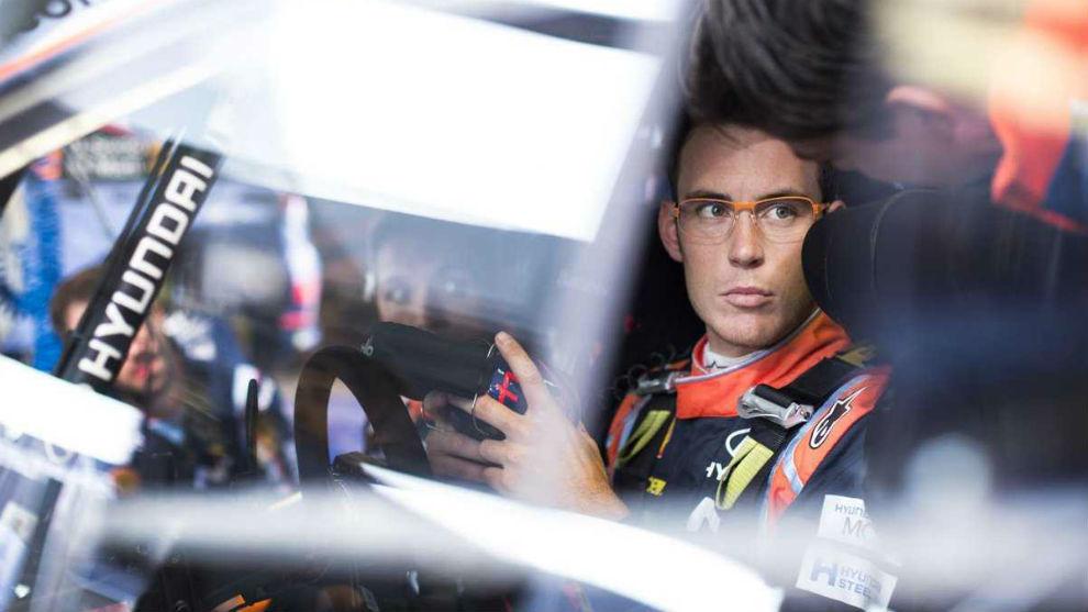 El piloto de Sankt Vith, en el habit�culo de su i20 Coup�. Hyundai