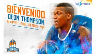 Bienvenida del San Pablo Burgos a su nuevo fichaje Deon Thompson.