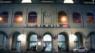 Imagen de la estaci�n de trenes de Nimes.